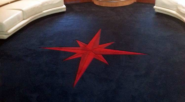 Custom Marine Carpet with Inlaid Design