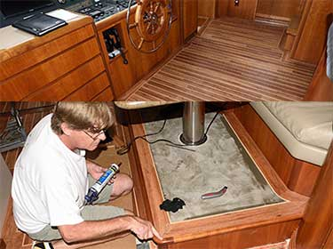 Yacht Vinyl Installation- Before and After Images